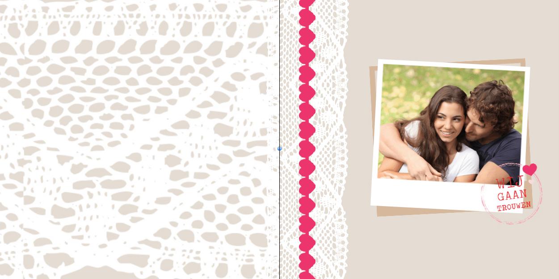 Verrassend Goedkope gevouwen trouwkaarten van goede kwaliteit GS-26